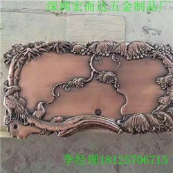 湖州  铝门花铝板浮雕精雕深圳厂家//HED