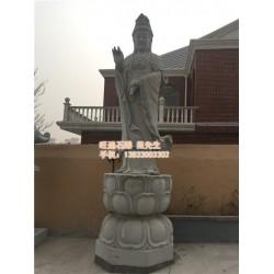 旺通雕塑|石雕观音|汉白玉石雕观音厂家
