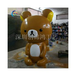 专业的玻璃钢熊仔造型雕塑制作,厂家批发玻