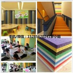 凤冈县早教室墙面吸音板,幼儿园环保彩色纤
