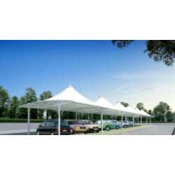 湖北拉杆膜结构车棚 T型膜结构车棚 随州汽车充电桩膜结构生产