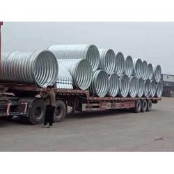 1.2米镀锌波纹涵管 钢制波纹管涵厂家