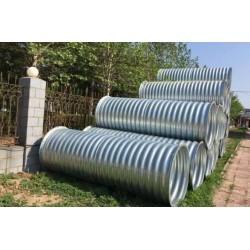 直径800镀锌波纹涵管 钢制波纹管涵