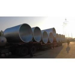 直径2米钢波纹管涵 金属波纹涵管厂家