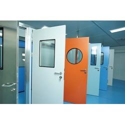 钢制洁净门无尘车间净化门 室内门子母平开门 厂家直销质量保障