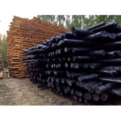 厂家专业生产防腐油木杆 油木电线杆 油木杆 黒木杆 通信木杆